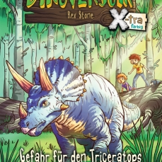 Das geheime Dinoversum X-tra farbig - Gefahr für den Triceratops